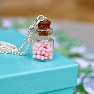 Candy Jar Necklace - Strawberry Bonbons