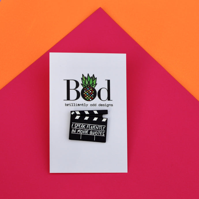 Movie Lover Pin Badge