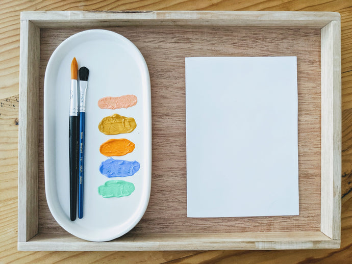 7 ways to use our trays for art experiences