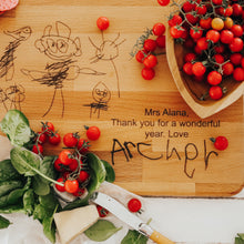 Load image into Gallery viewer, Child's Artwork Chopping Board