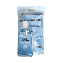 Load image into Gallery viewer, PPE COMBO - 10 Pack Face Mask & 236ml Hand Sanitiser