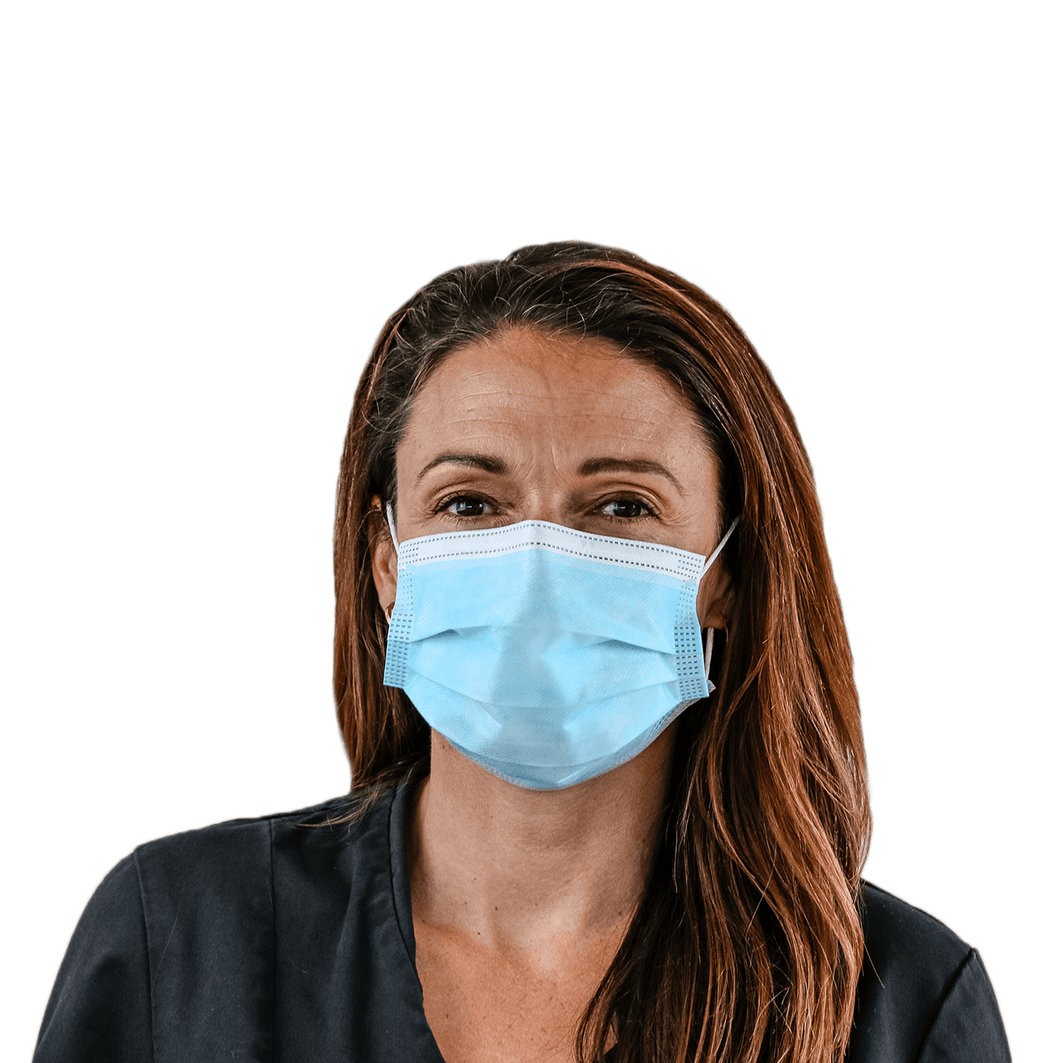 Blue 3 Ply Disposable Face Mask $0.70