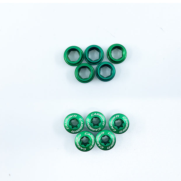 Carbon-Ti X-FIX Road Bolt+Nut 5 pairs Set