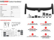 ARGON 18 AHB-5000o Aero Bar 400mm Handlebar