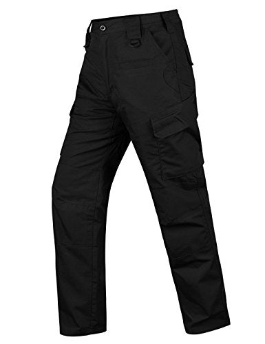 Men's Tactical Pants Waterproof Ripstop Outdoor Cargo Work Pants with Elastic Waist