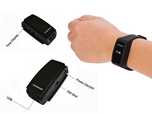 Bracelet Digital Voice Recorders,eoqo Wristband 8GB Voice Activated,Noise Cancelling Audio Recorder for Lectures,Meetings,Class,Interviews & Playback by Built-in Speaker(Black)