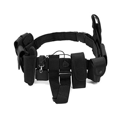 Police Security Guard Modular Enforcement Equipment Black Duty Belt Nylon Police Tactical 600D Officer Outdoor Extreme Sports Enthusiast Personnel