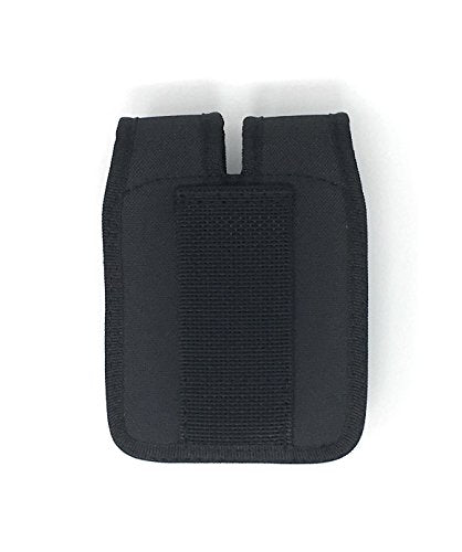 Tactical Concealment Magazine Pouch Holster - THERMOFOIL Material and Multi Use Holster with Belt Loop - Double Size Fits 9 mm and .40 Cal (Black/Double)