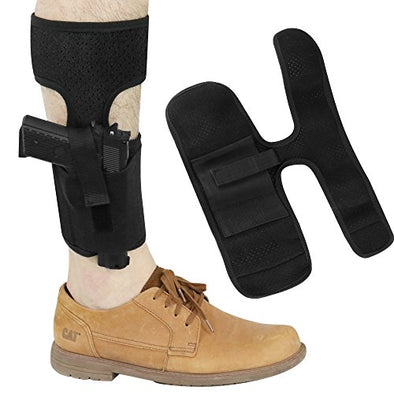 Vanmor Ankle Holster for Concealed Carry Pistol Gun Holster with magazine pouch for Glock 17 19 26 36 42 43 Ruger LCP M & P Shield 9mm