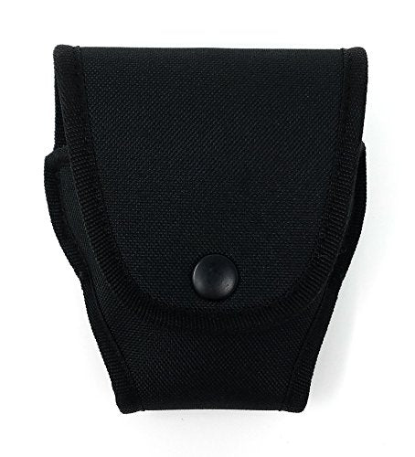 Black Nylon Handcuff Case Pouch - Holder with Secure Snap & Belt Loop by Houston Made of Nylon | Universal Fit | Can be use with Duty Belt and Concealed