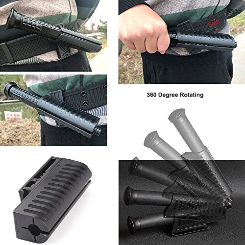 SideBreak Baton Holster, Fits Tactical Flashlight with Diameter 3.1cm, Expandable Baton Holder