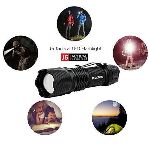 J5 Tactical V1-PRO Flashlight - The Original 300 Lumen Ultra Bright, LED Mini 3 Mode Flashlight: Sports & Outdoors