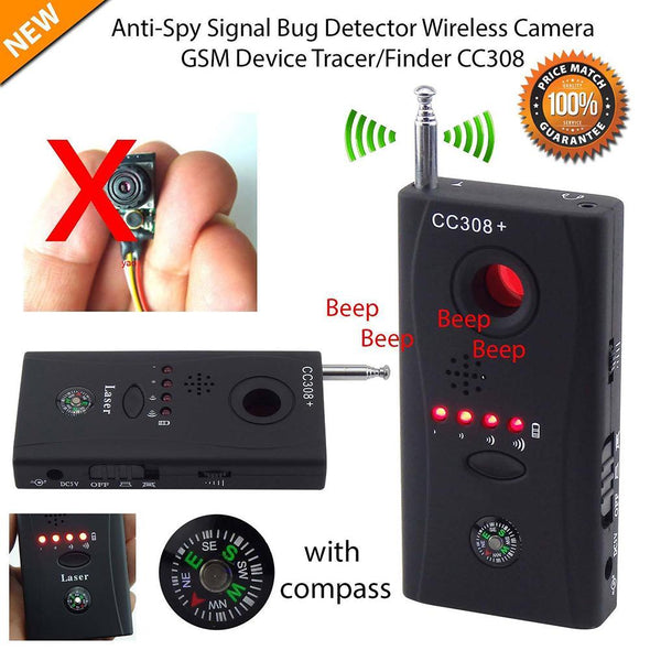 Full Range Anti - Spy Bug Detector CC308 Mini Wireless Camera Hidden Signal GSM Device Finder Privacy Protect Security