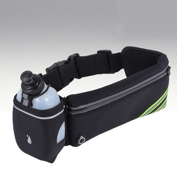 Sports Fitness Bag + Water Bottles SET Hydration Running Belt Fanny Waist Pack