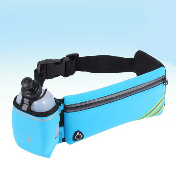 Hydration Running Belt Fanny Waist Pack Sports Fitness Bag + Water Bottles SET Waterproof