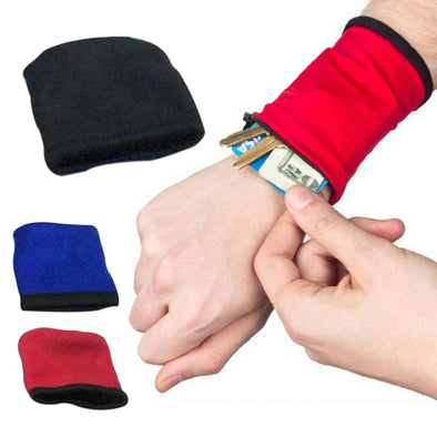 1Pcs Unisex Wrist Wallet Pouch Safe Outdoor Running Strap Wrap Cycling Sports Wrist Band Bag Breathable Fitness Equipment