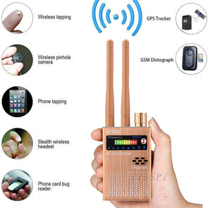 Dual Antenna RF Signal Anti Spy Hidden Camera Anti Candid Camera Detector Eavesdropping Pinhole Audio Bug GPS GSM Device Finder