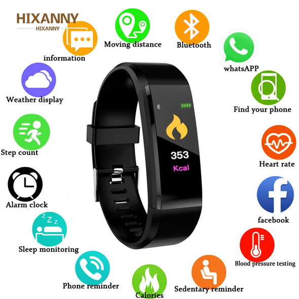 2019 New Smart Watch For Men Women Kids Heart Rate Monitor Blood Pressure Fitness Tracker Smartwatch Sport Watch for IOS Android