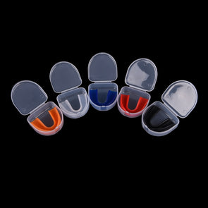 1 Set New Shock Sports Mouthguard Mouth Guard Teeth Protect for Boxing Basketball Top Grade Gum Shield