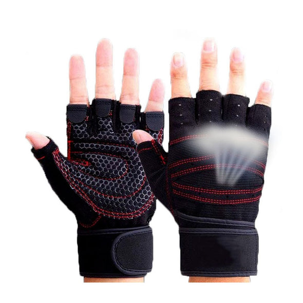 Half Finger Gym Gloves Heavyweight Sports Exercise Weight Lifting Gloves Body Building Training Sport Fitness Gloves