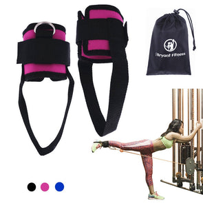 1 Pair Fitness Exercise Resistance Band Ankle Straps Cuff for Cable Machines Ab Leg Glute Training Home Gym Fitness Equipment