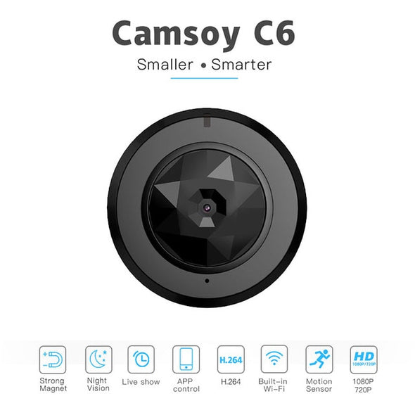 C6 Camsoy Cookycam Micro WIFI Mini smallest Camera HD 720P With Night Vision IP WIFI Cam Home Remote Security Video Camcorder