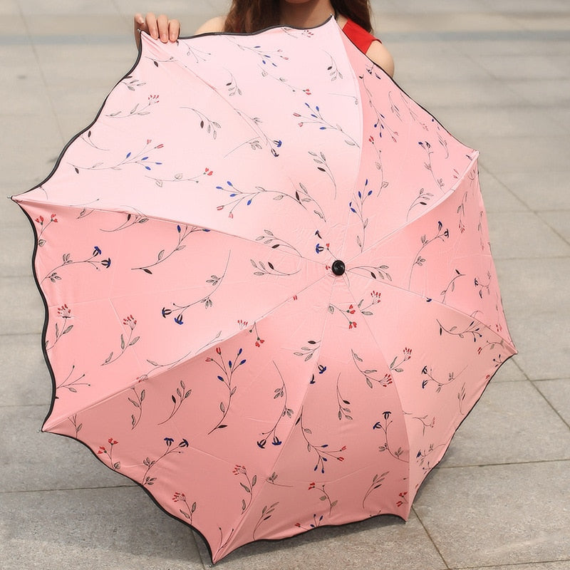"""Intricate Rose"" umbrella"