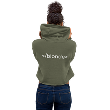Load image into Gallery viewer, <blonde> Cropped Hoodie - CUSTOMISABLE