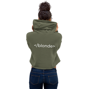 <blonde> Cropped Hoodie - CUSTOMISABLE