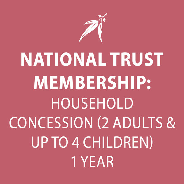 National Trust membership HOUSEHOLD CONCESSION 1 year (2 adults & up to 4 children)