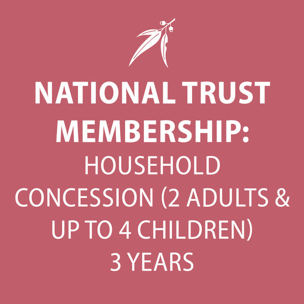 National Trust Membership 3 Years CONCESSION HOUSEHOLD
