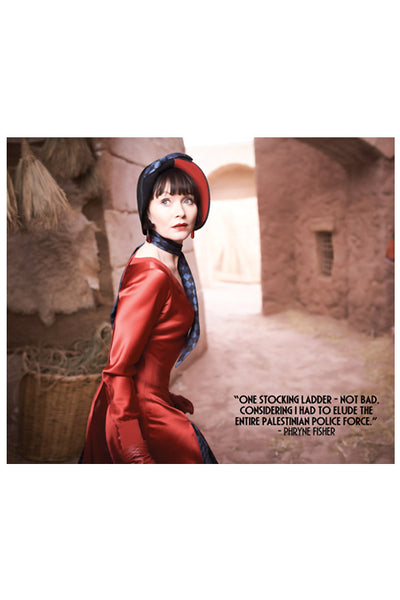 Miss Fisher and the Crypt of Tears Red Dress Lens Cloth Phryne Fisher