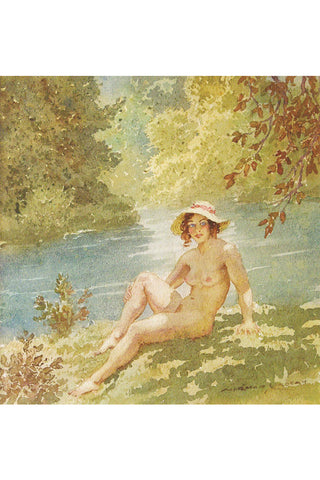 The Bather by Norman LIndsay- Print