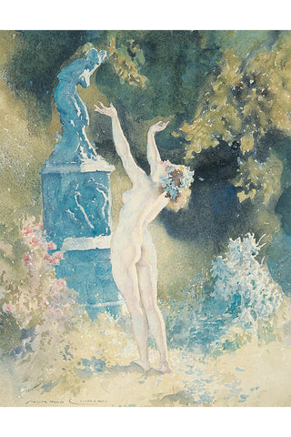 Garden God by Norman Lindsay-Print