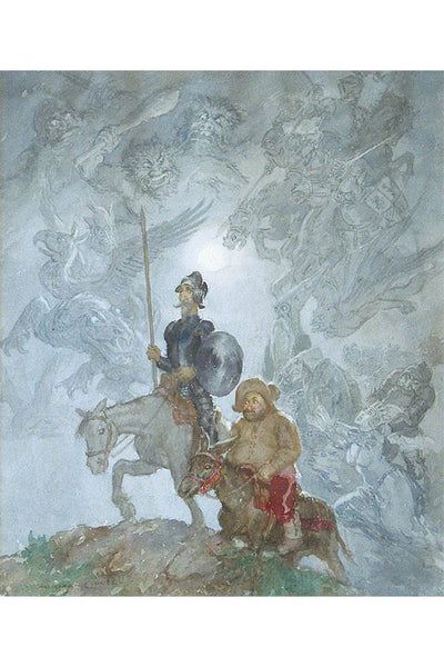 Don Quixote by Norman Lindsay- Print
