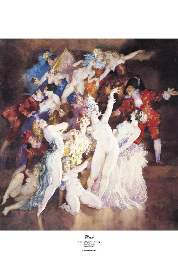 Revel by Norman Lindsay- Print