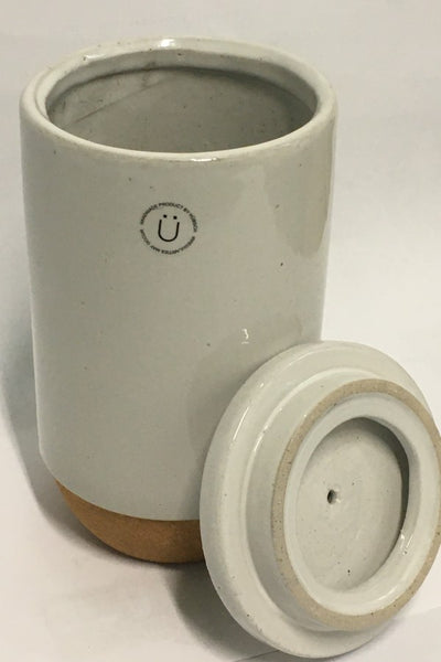 Ceramic  Jar with Cork Cladding and Wooden Lid - Large