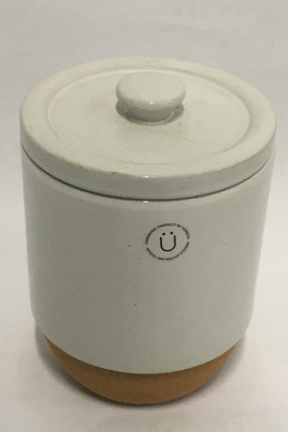 Ceramic  Jar with Cork Cladding and Wooden Lid - Medium