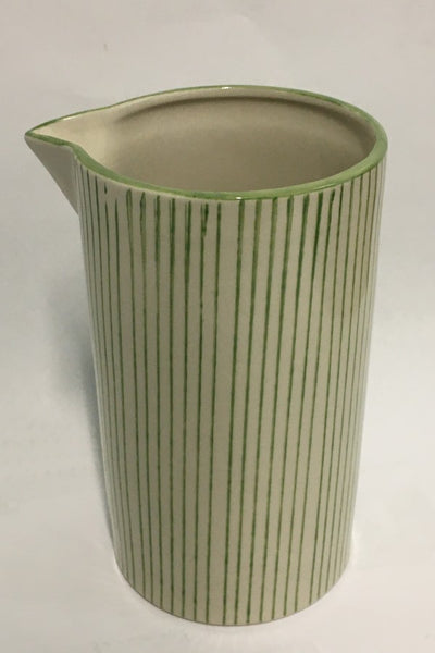 Green Stripe Stone Pitcher