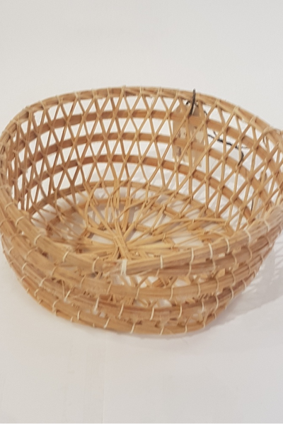 Handwoven Flat Basket - medium
