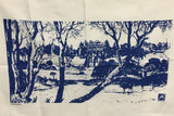 Como House Blue Linen Tea Towel