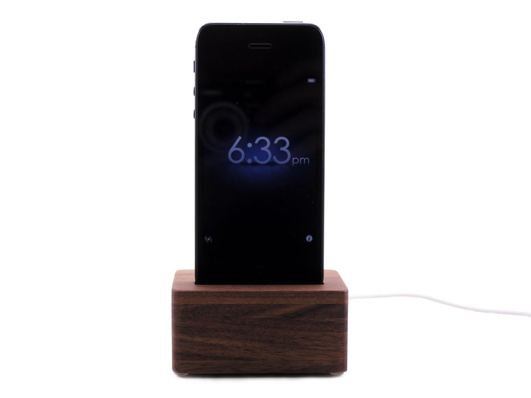 The Block Dock (Walnut) iPhone 5