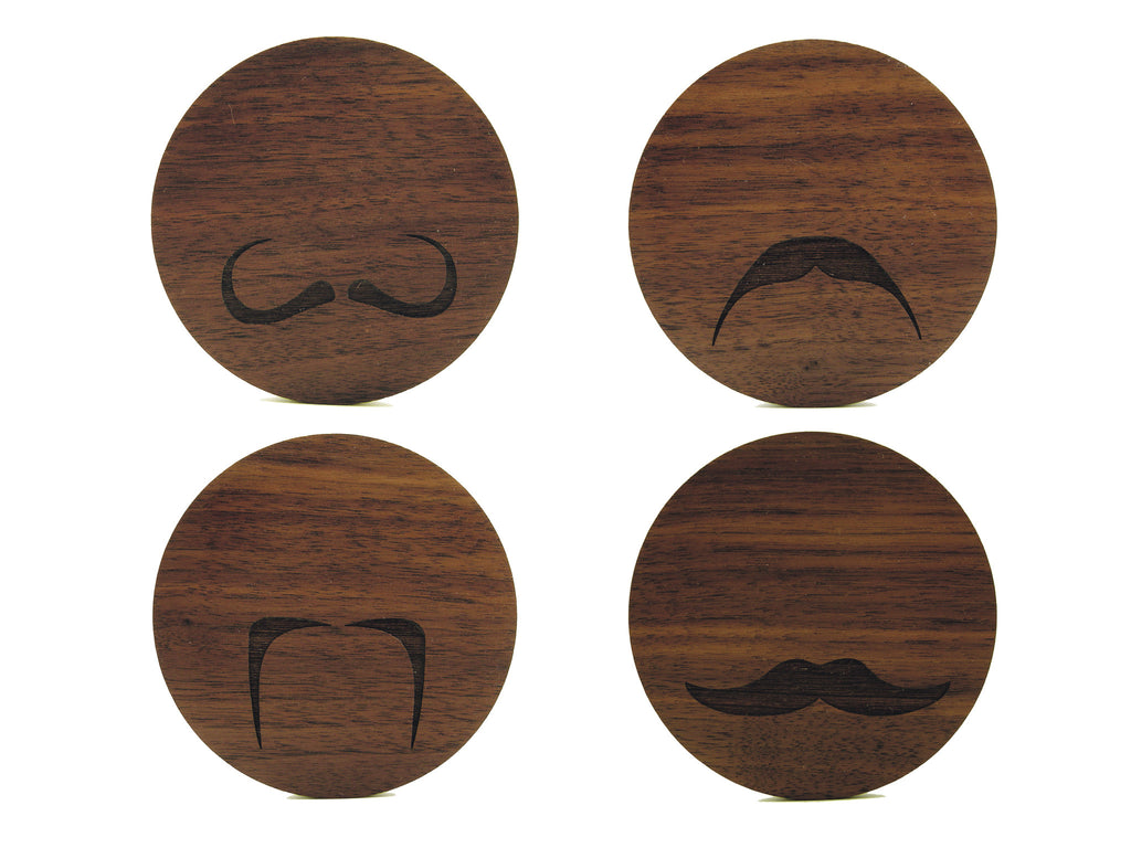 Mustache Coasters (Set of 4)
