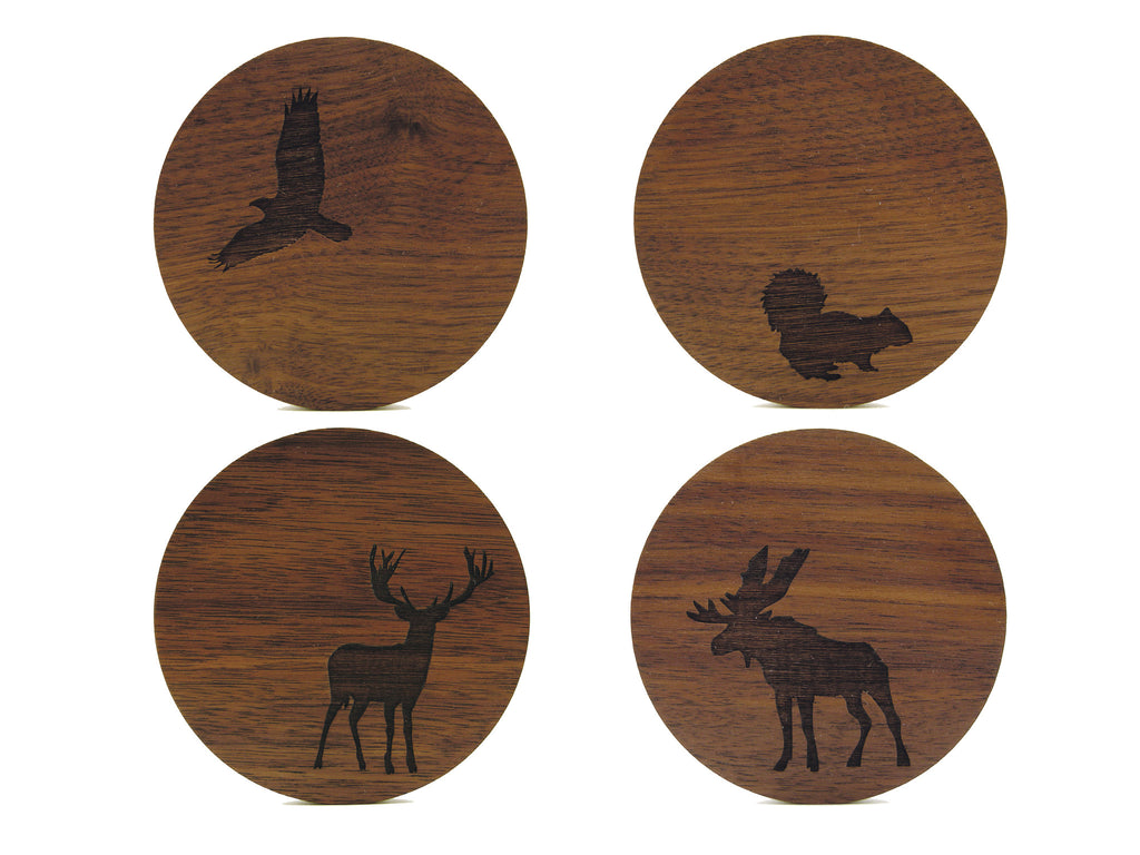 Woodland Critter Coasters (Set of 4)