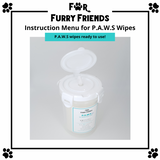 For Furry Friends P.A.W.S Pet's Activated Water Sanitizer Wipes Refill Packs