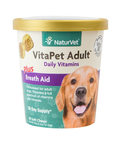 NaturVet VitaPet Adult Daily Vitamins Plus Breath Aid Soft Chews