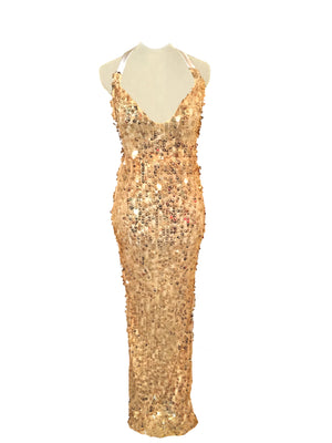 Gold Rush - Designer Prototype with Gold Sequins Finishes & Satin Straps