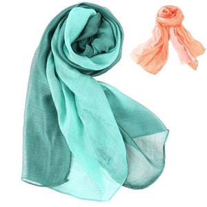 Women Chiffon Transition Color Gradient Scarf Fashion Scarves Shawl