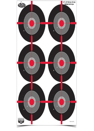 Birchwood Casey Dirty Bird 12inX18in Multi Bullseye-100 Pck