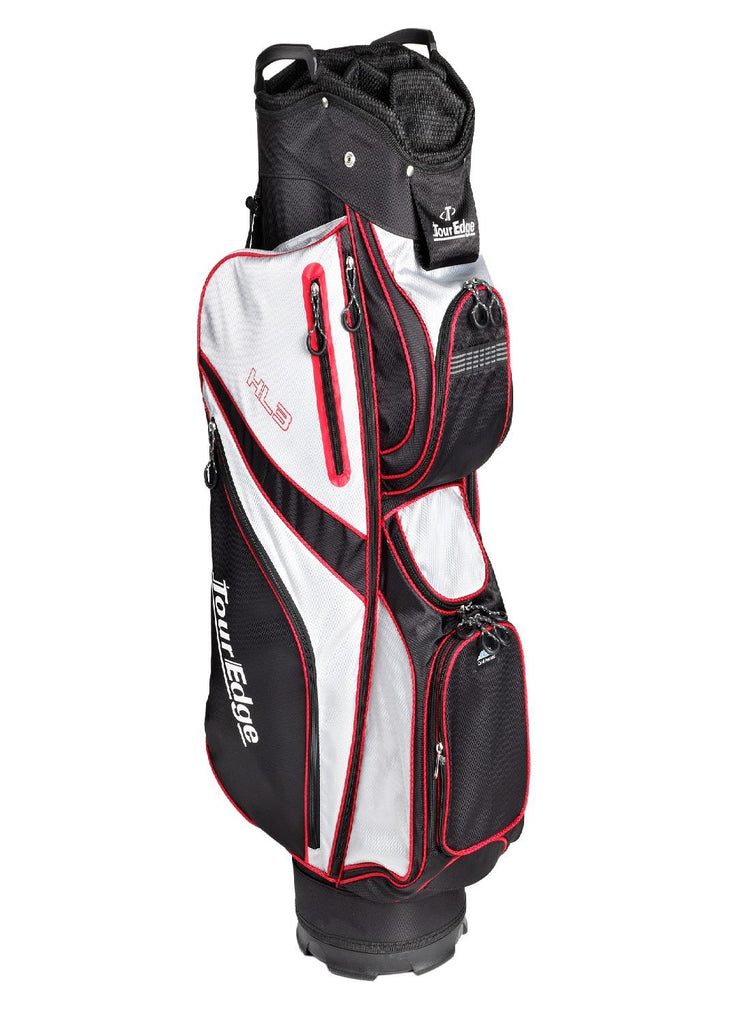 Tour Edge HL3 Golf Cart Bag Black-Silver-Red